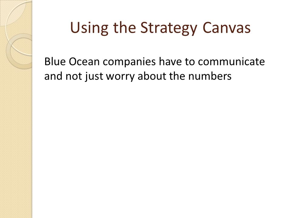 Using the Strategy Canvas