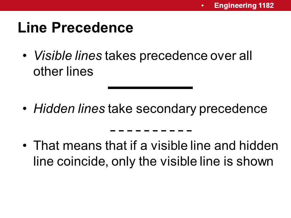 Line Precedence Visible lines takes precedence over all other lines