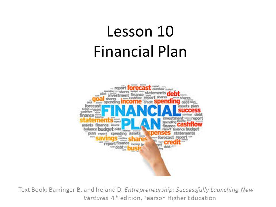 Lesson 10 Financial Plan