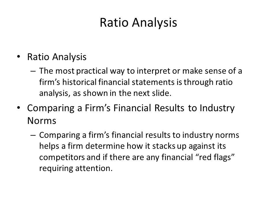 Ratio Analysis Ratio Analysis
