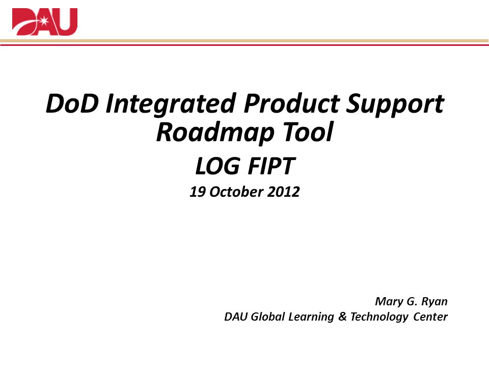 DoD Integrated Product Support Roadmap Tool