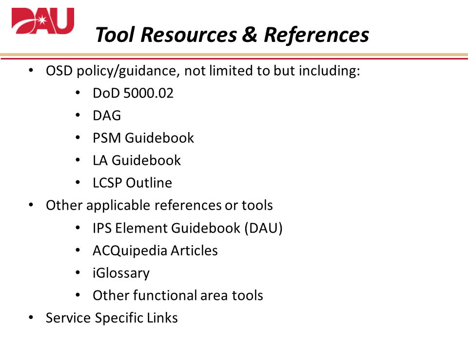 Tool Resources & References