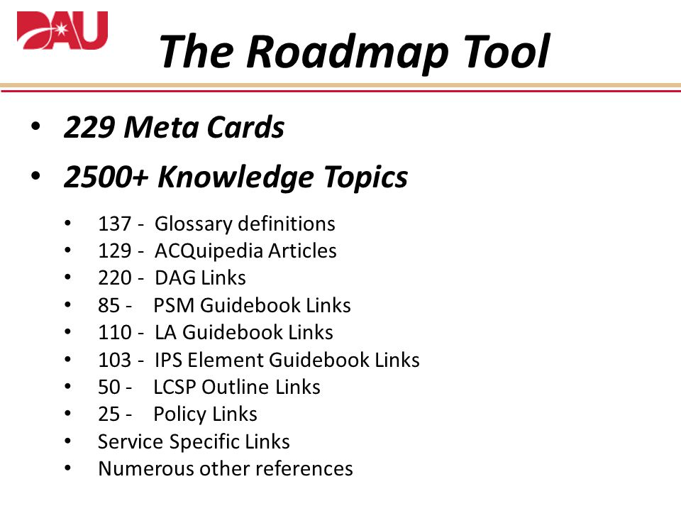The Roadmap Tool 229 Meta Cards 2500+ Knowledge Topics