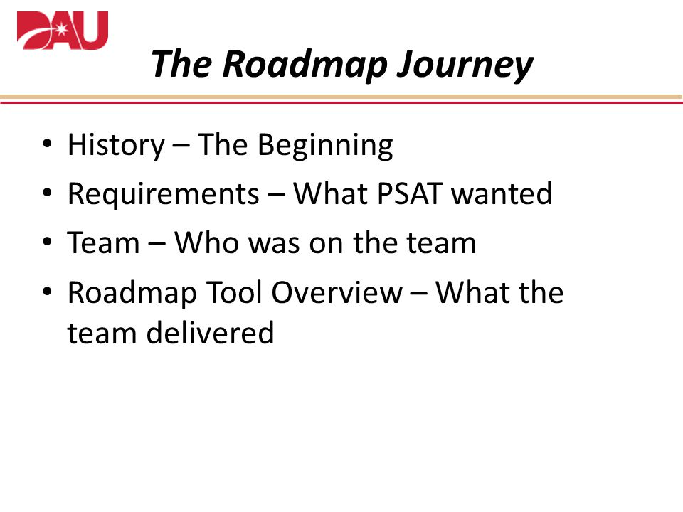 The Roadmap Journey History – The Beginning