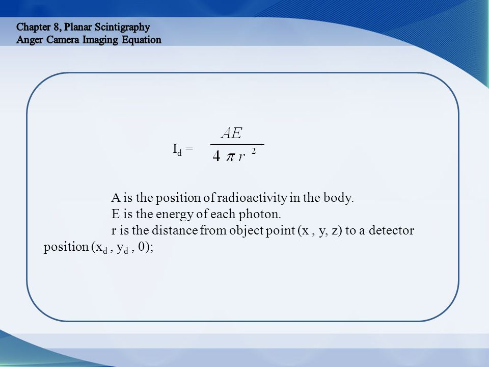 A is the position of radioactivity in the body.