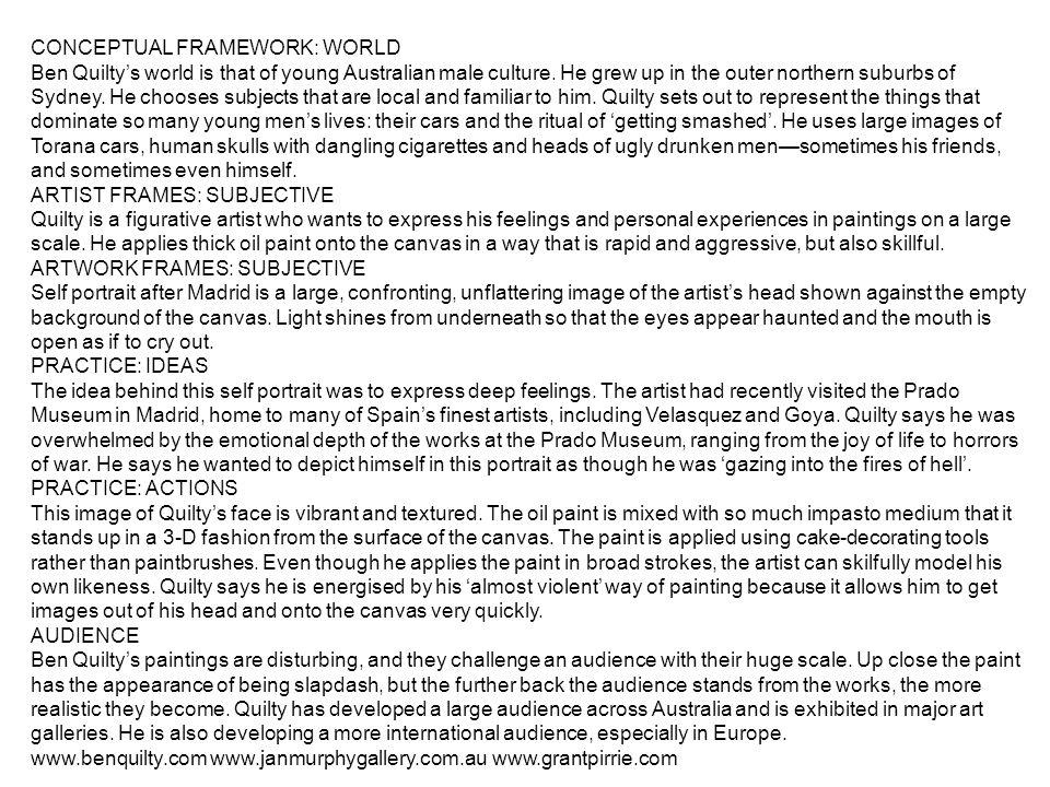 CONCEPTUAL FRAMEWORK: WORLD