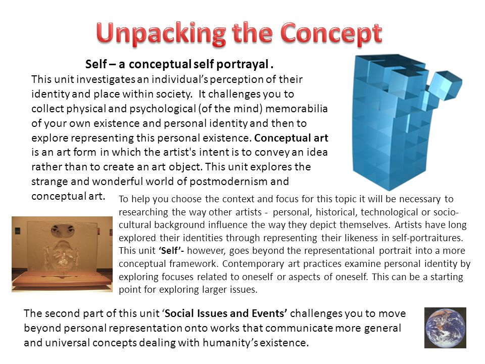 Self – a conceptual self portrayal .