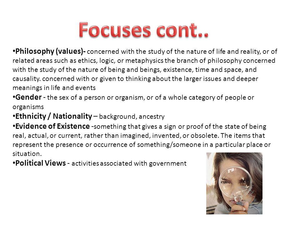 Focuses cont..