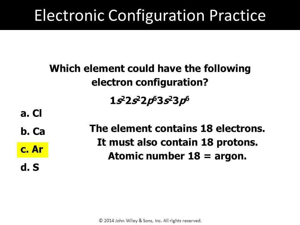 Electronic Configuration Practice
