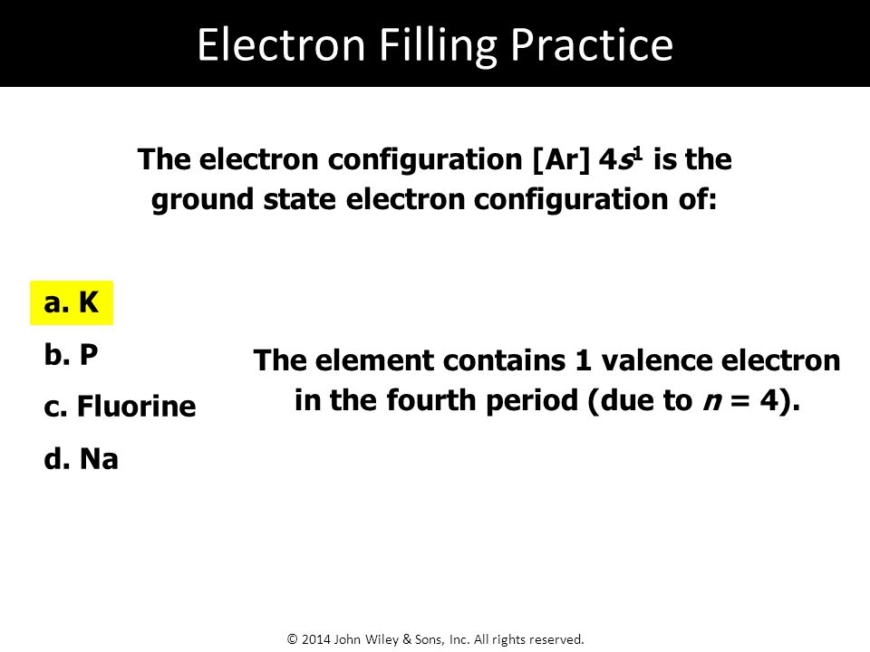 Electron Filling Practice