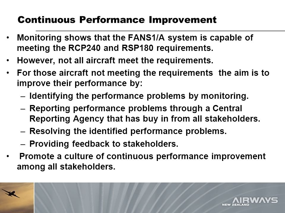Continuous Performance Improvement