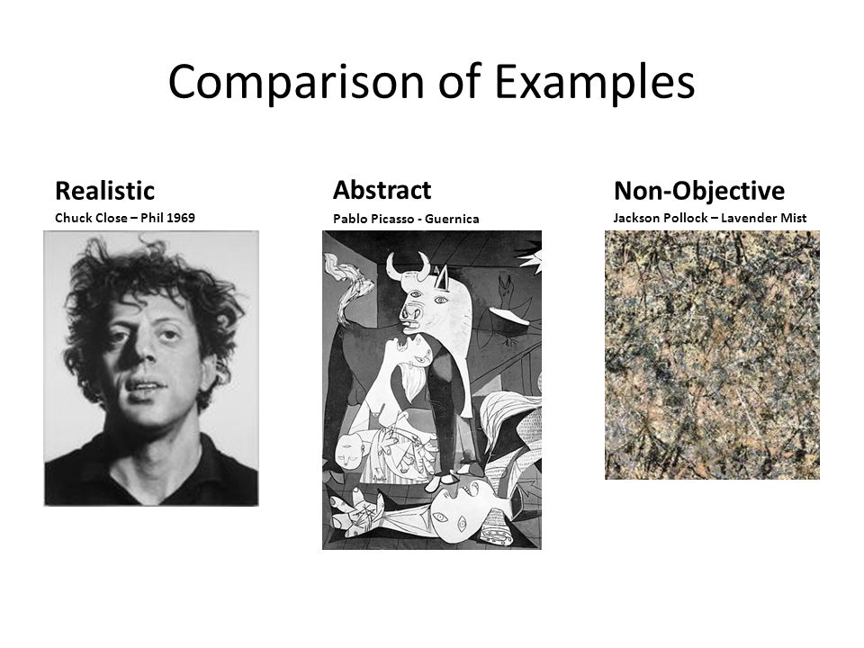 Comparison of Examples