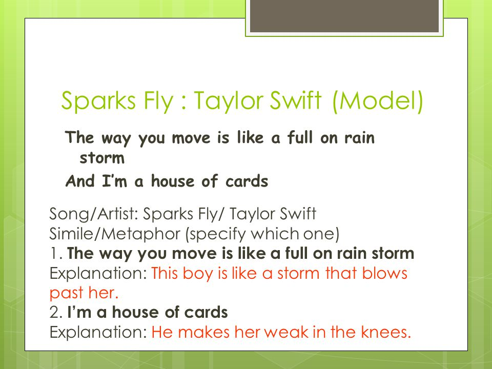 Sparks Fly : Taylor Swift (Model)