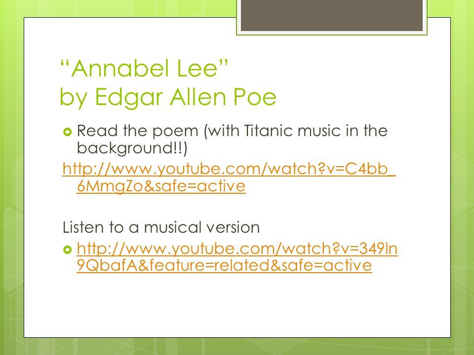 Annabel Lee by Edgar Allen Poe