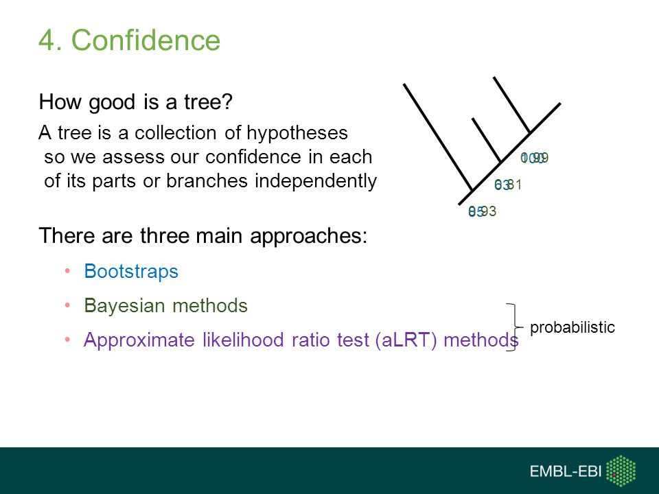 4. Confidence How good is a tree There are three main approaches: