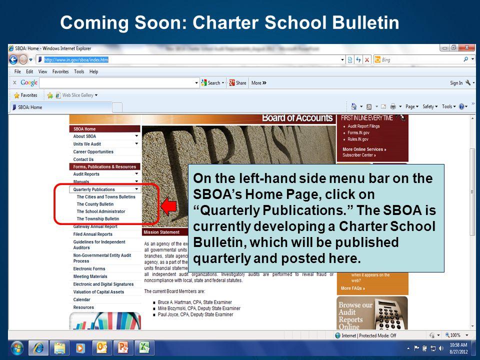 Coming Soon: Charter School Bulletin