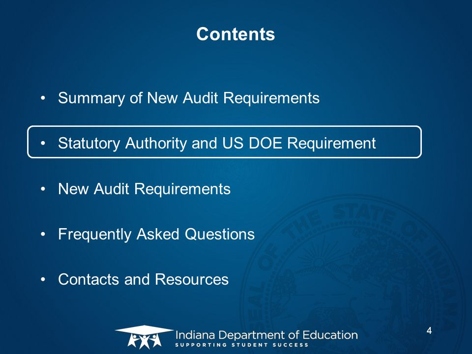 Contents Summary of New Audit Requirements