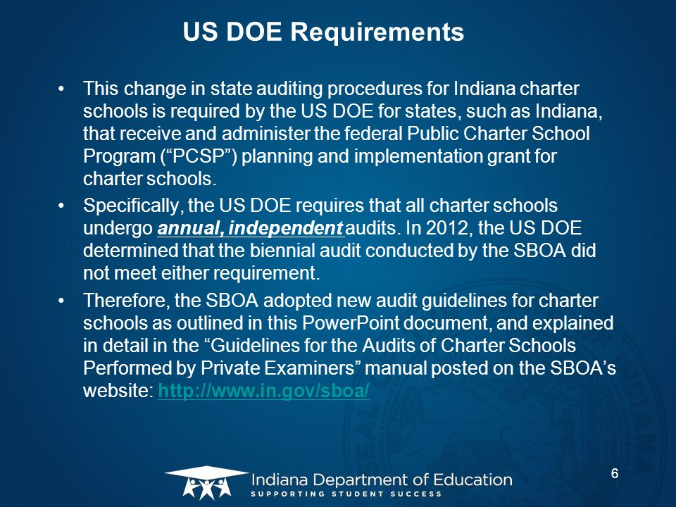 US DOE Requirements