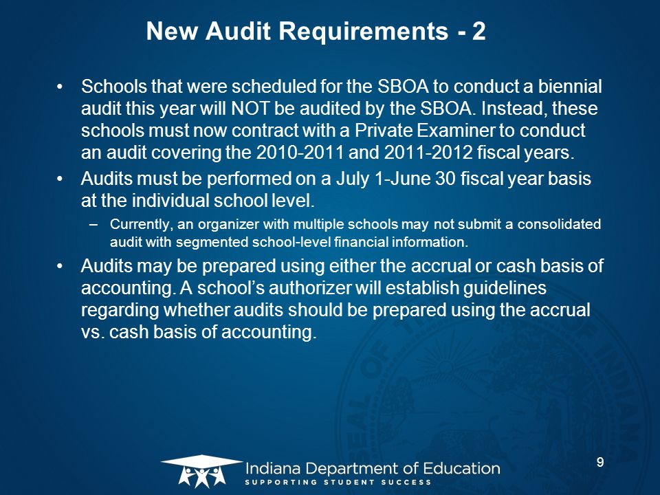 New Audit Requirements - 2