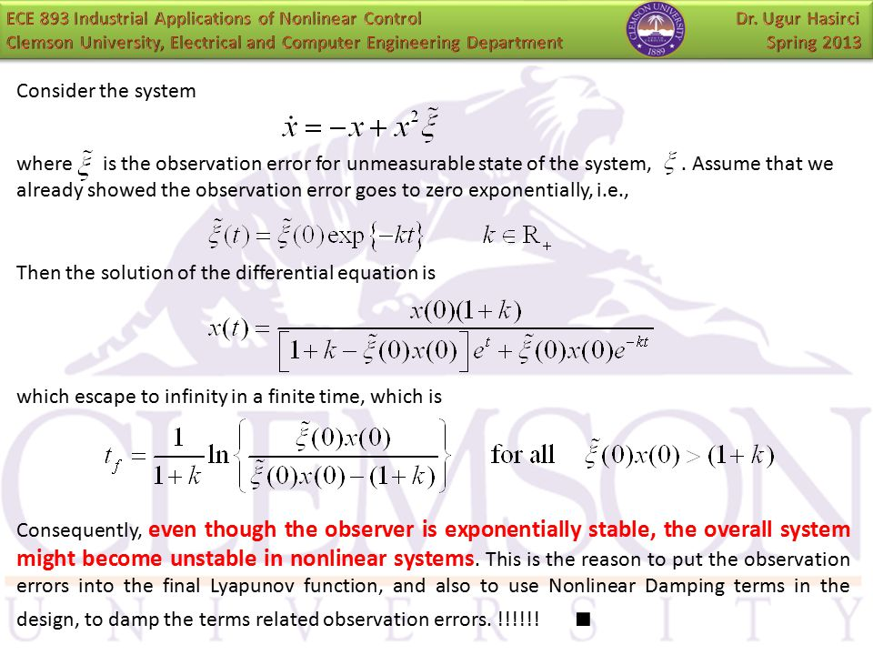 Then the solution of the differential equation is