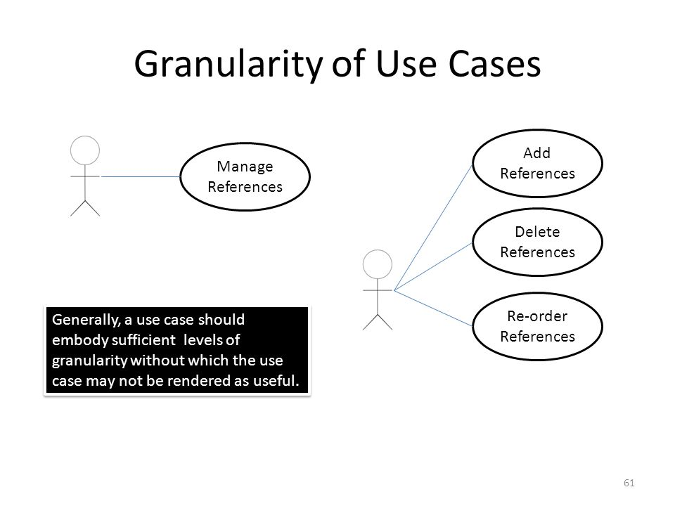 Granularity of Use Cases