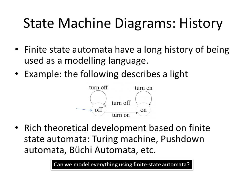 State Machine Diagrams: History