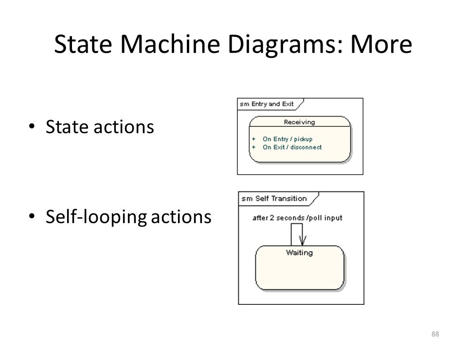 State Machine Diagrams: More