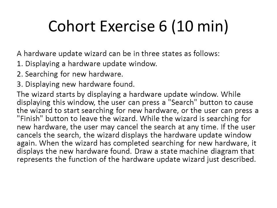Cohort Exercise 6 (10 min)