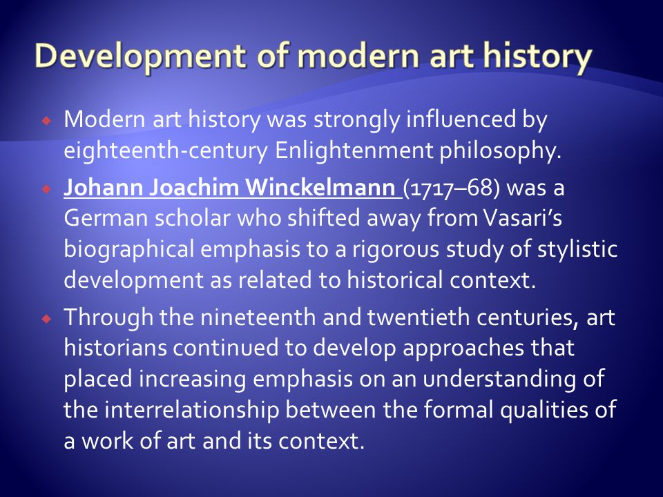 Development of modern art history