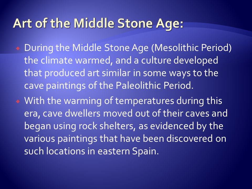 Art of the Middle Stone Age: