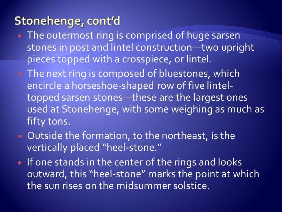 Stonehenge, cont'd