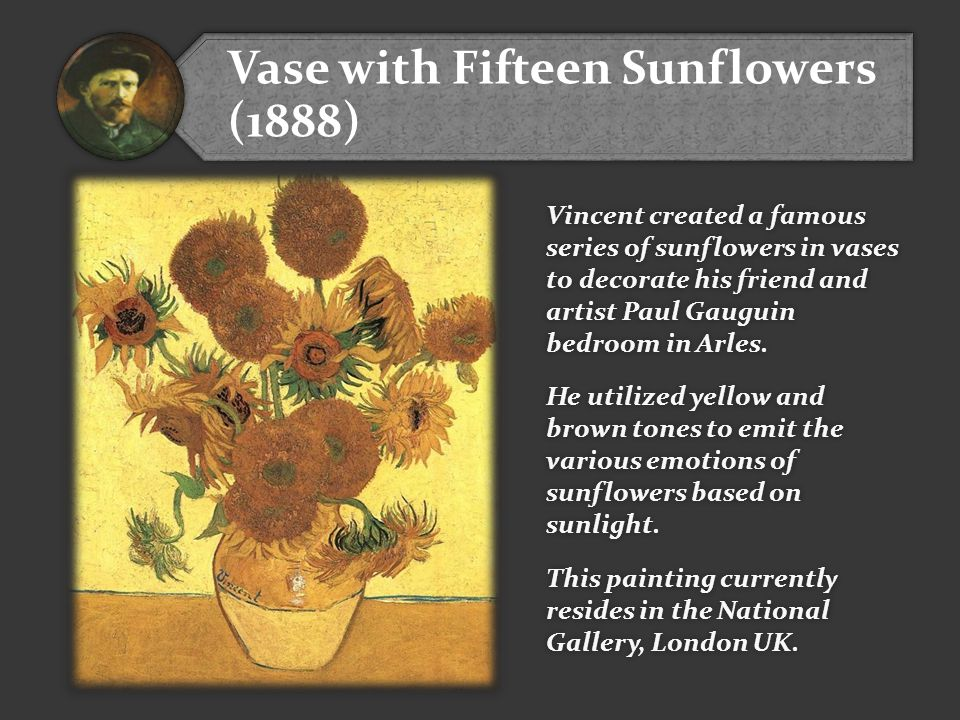 Vase with Fifteen Sunflowers (1888)