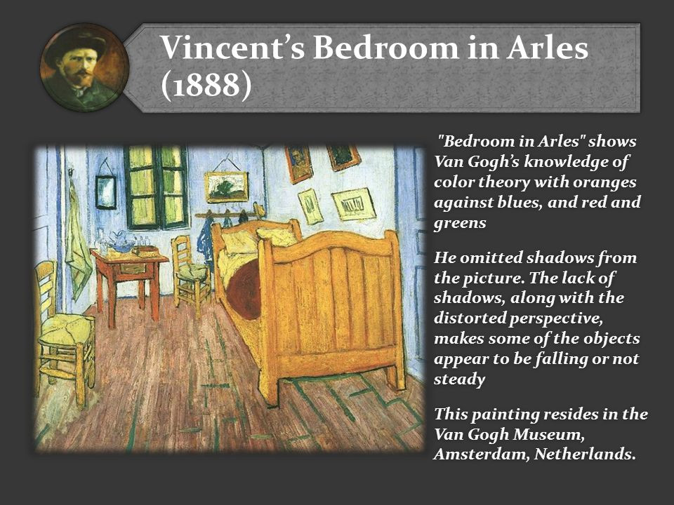 Vincent's Bedroom in Arles (1888)