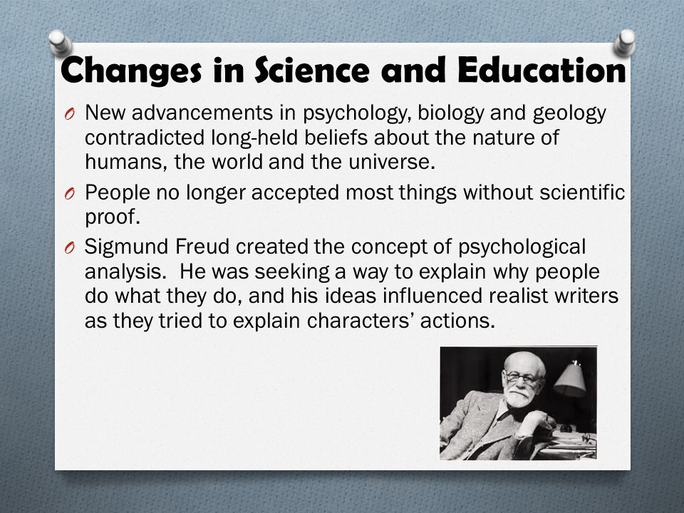 Changes in Science and Education