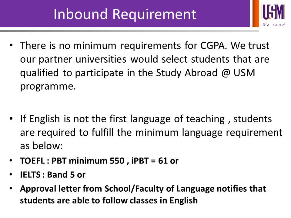 Inbound Requirement