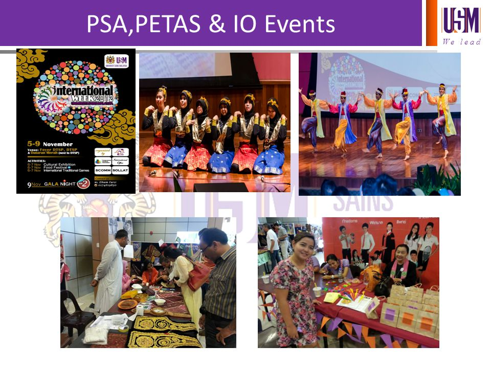PSA,PETAS & IO Events