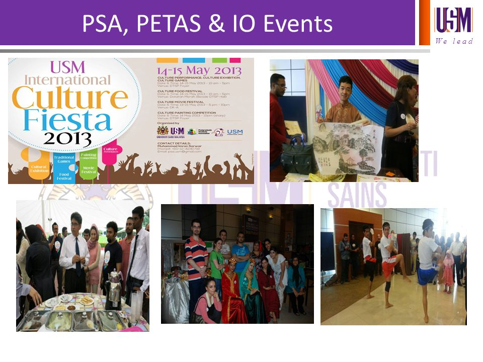 PSA, PETAS & IO Events