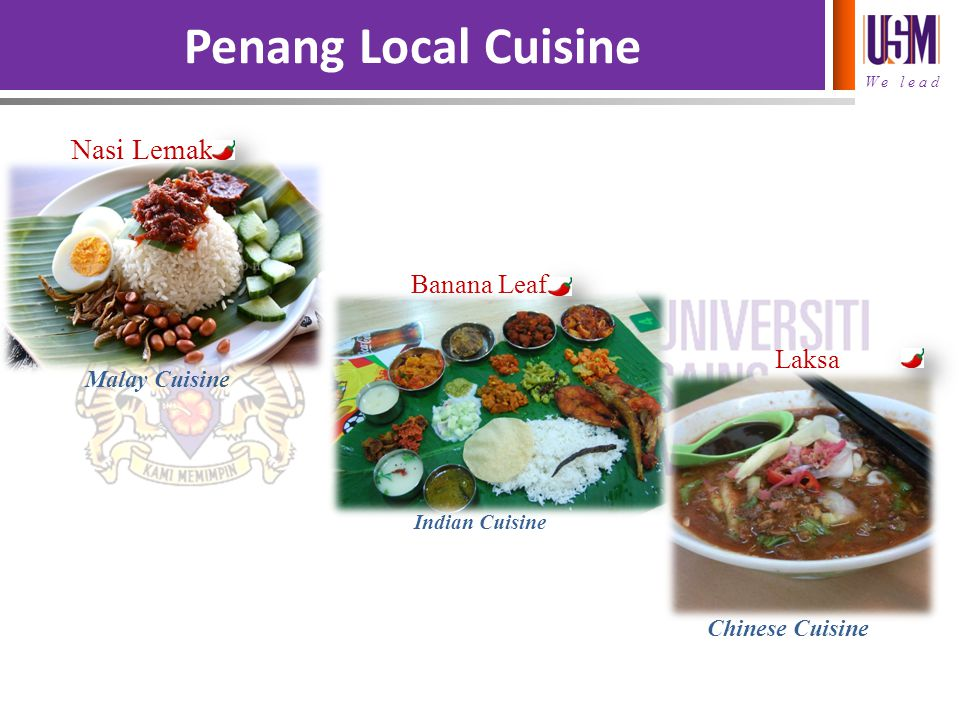 Penang Local Cuisine Nasi Lemak Banana Leaf Laksa Malay Cuisine