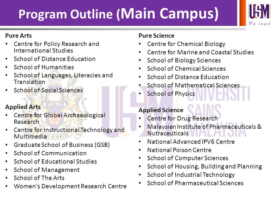 Program Outline (Main Campus)