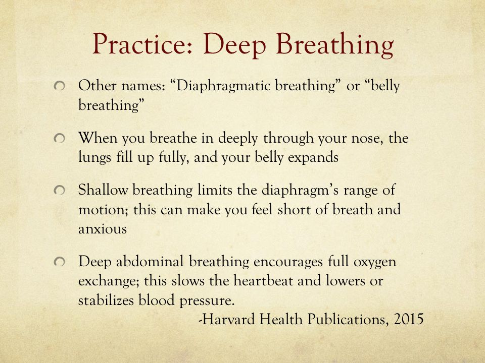 Practice: Deep Breathing