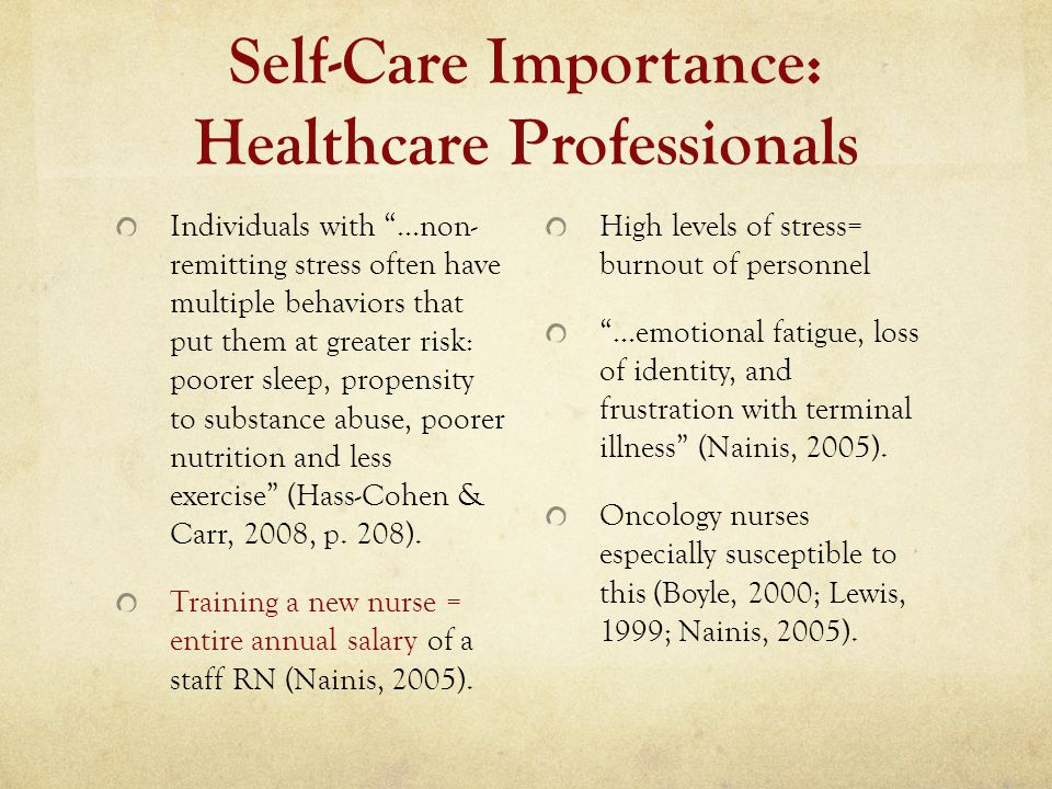 Self-Care Importance: Healthcare Professionals