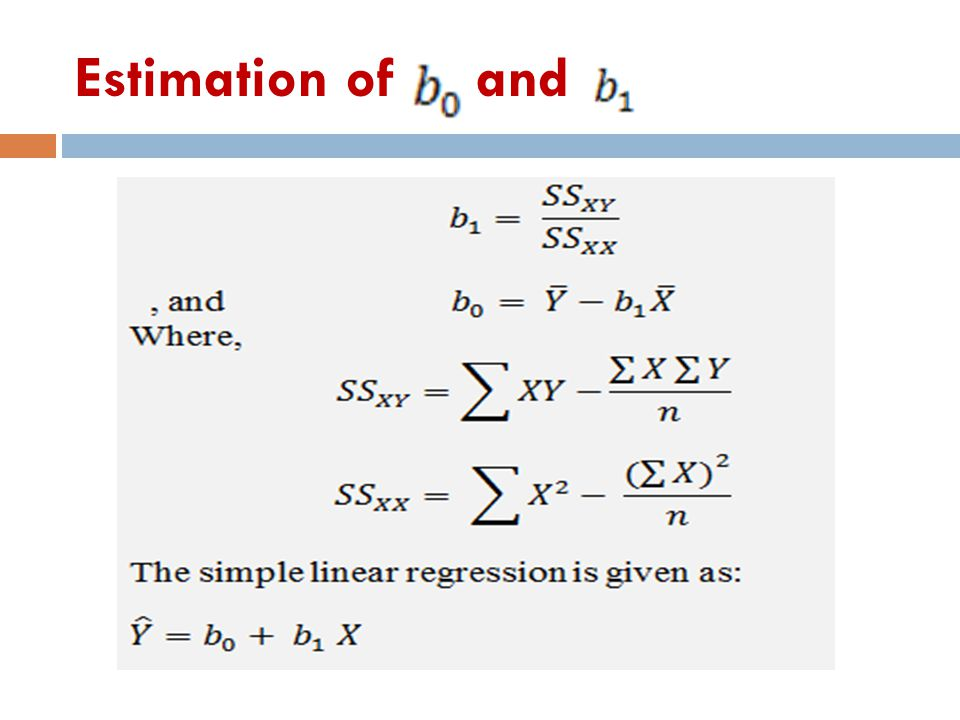 Estimation of and