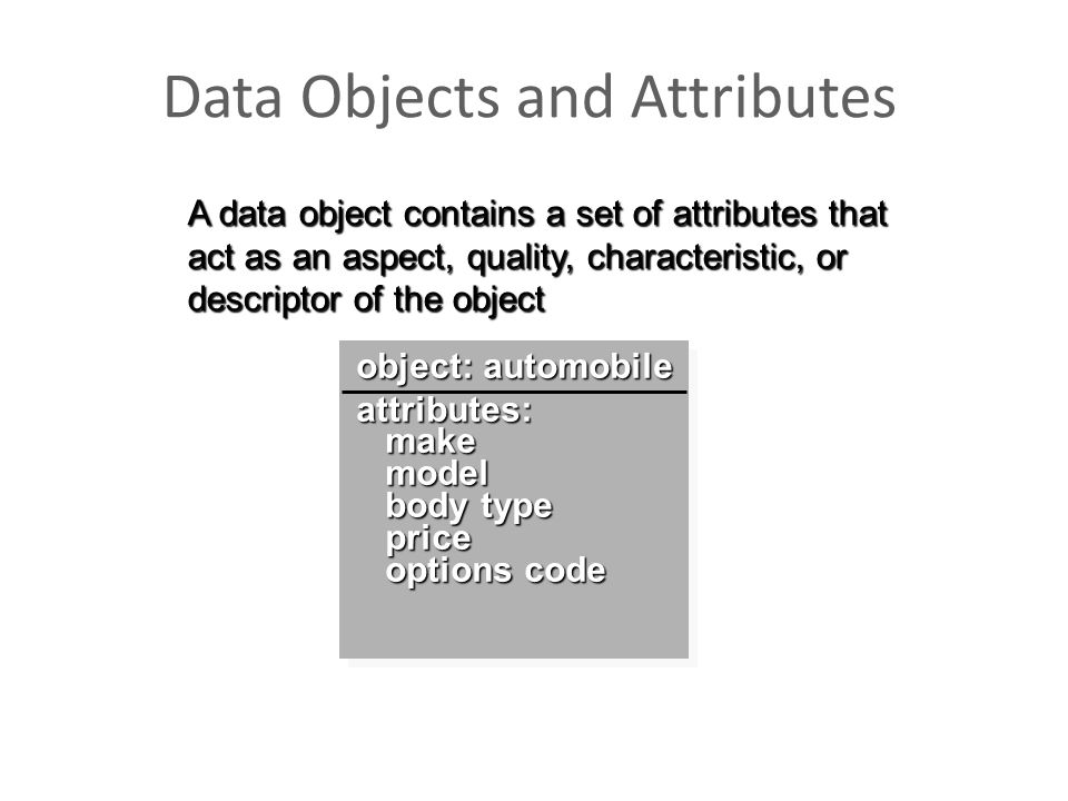 Data Objects and Attributes