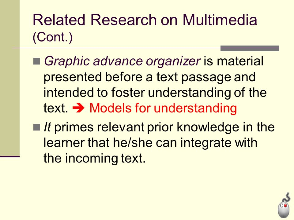 Related Research on Multimedia (Cont.)