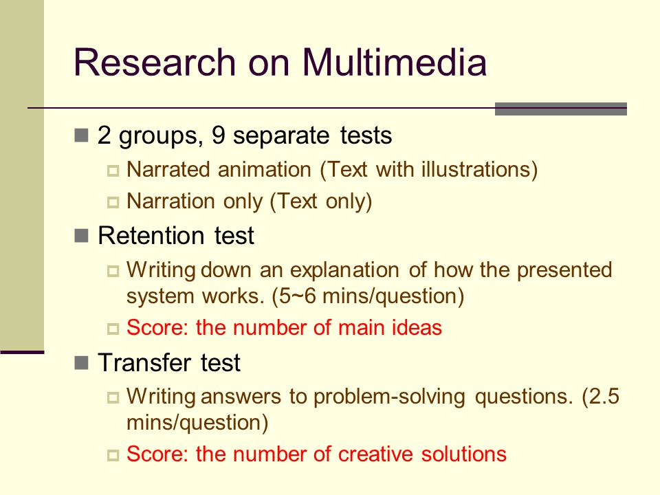 Research on Multimedia
