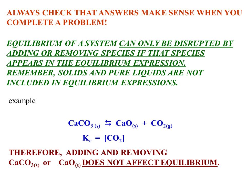 ALWAYS CHECK THAT ANSWERS MAKE SENSE WHEN YOU COMPLETE A PROBLEM!