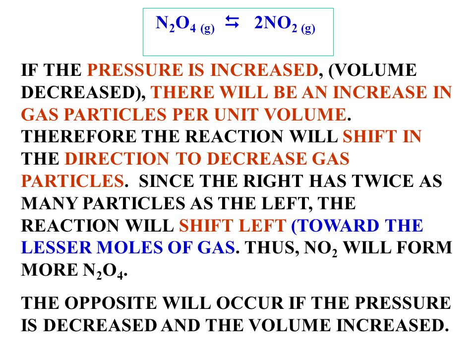 N2O4 (g) D 2NO2 (g)