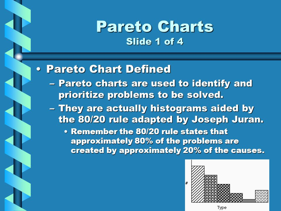 Pareto Charts Slide 1 of 4 Pareto Chart Defined