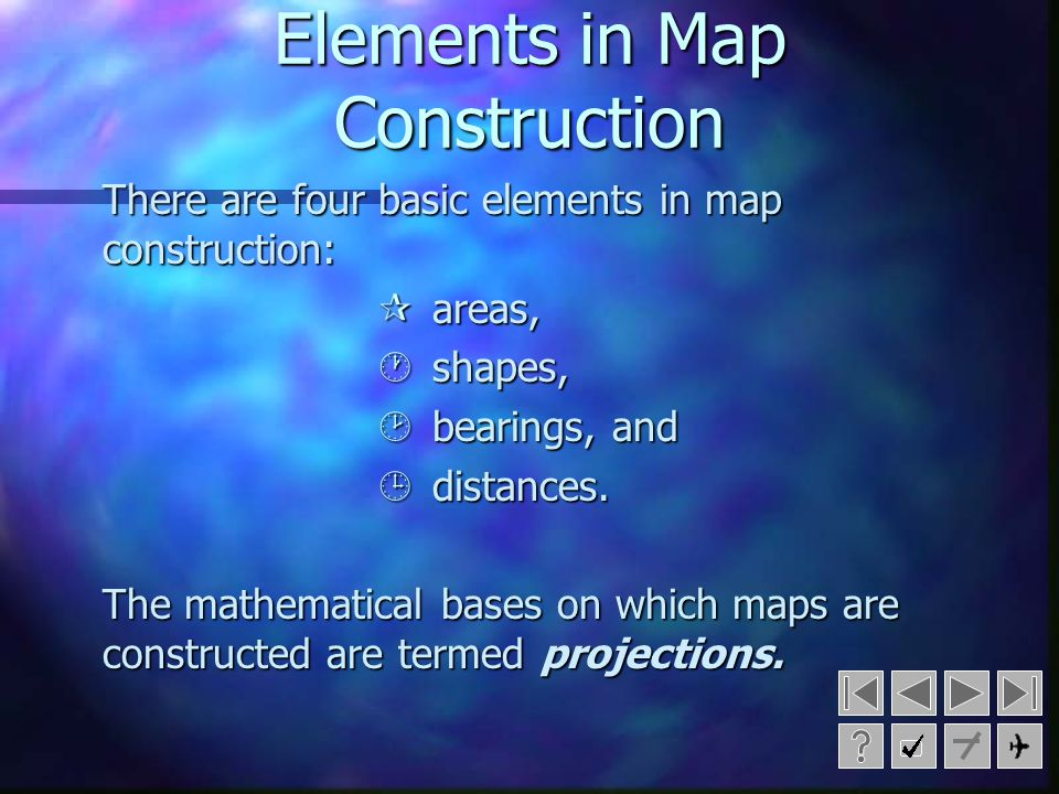 Elements in Map Construction
