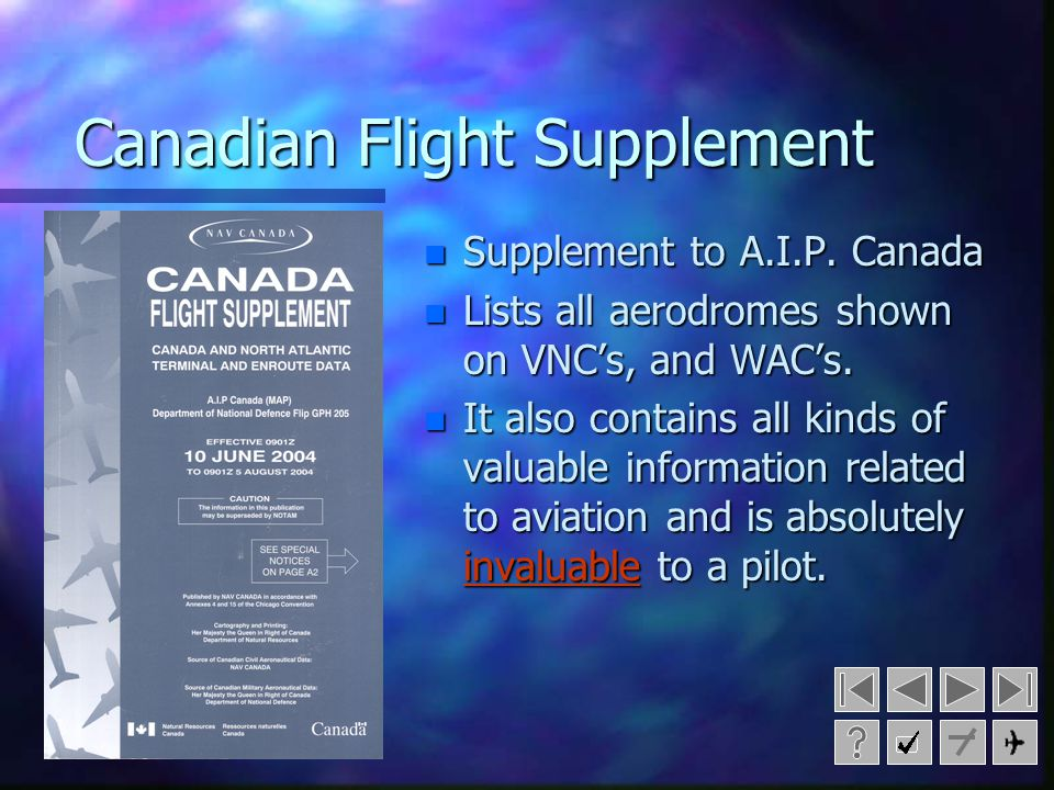 Canadian Flight Supplement